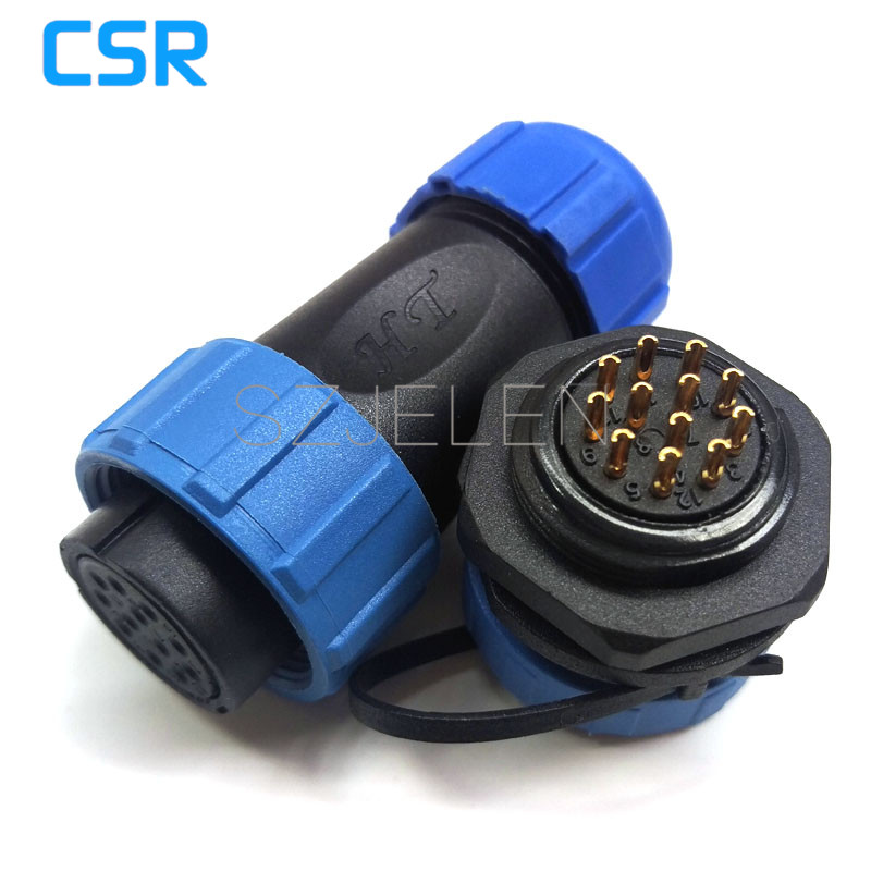 SP2110/S12-P12, LED waterproof cable connectors 12 pin,IP68, Power supply chassis cable waterproof  plug and socket sp2110 5 pin waterproof connectors plug and socket industrial power panel mount connectors waterproof and dustproof connector