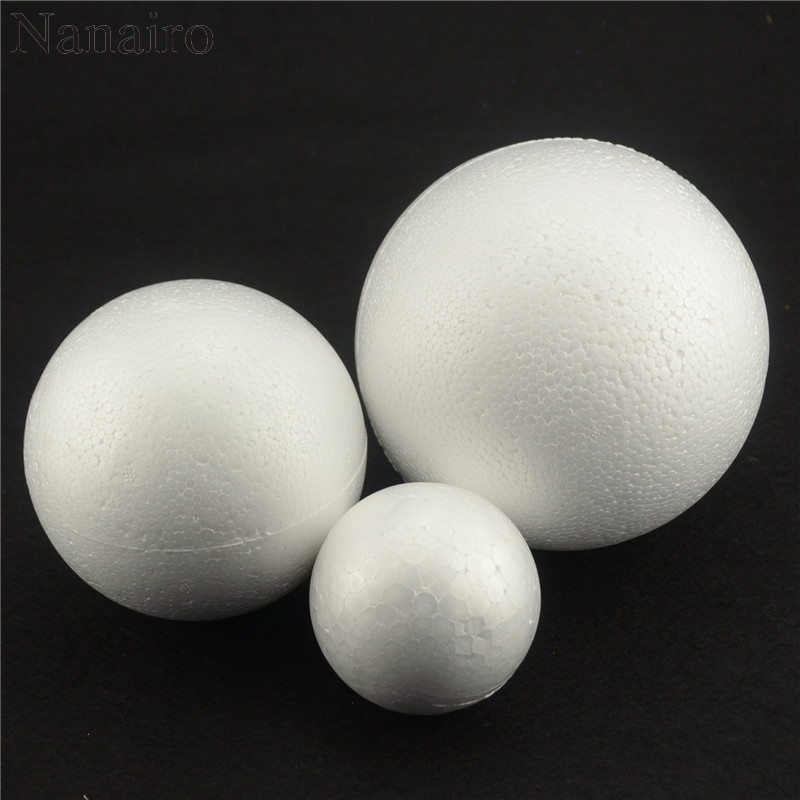 New 5PCS/Lot 80MM Modelling Polystyrene Styrofoam Foam Ball White Craft Balls For DIY Christmas Party Decoration Supplies Gifts