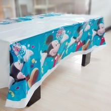 Kids Mickey Mouse  Birthday Decoration Supplies Disposable Tablecloth 108*180cm Party Favors Tablecover