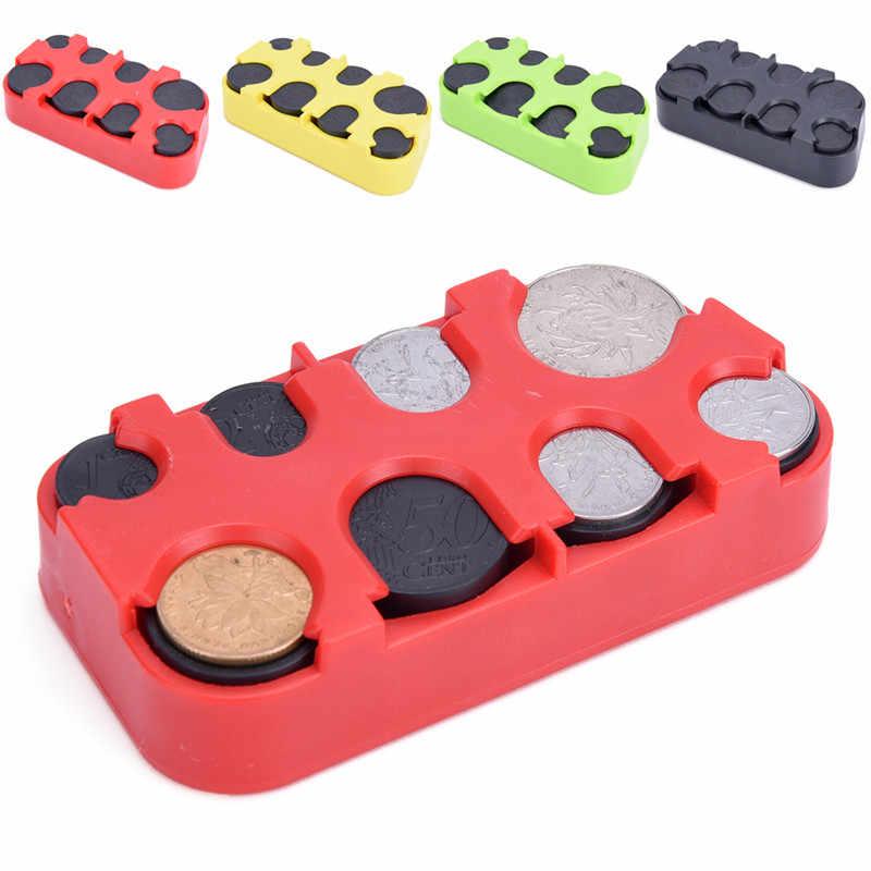 Kreative Hohe Qualität Euro/Dollar Münze Spender Speicher Münzen Geldbeutel Brieftasche Halter Lagerung Box 1 pc münze Box