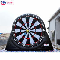 Guangzhou factory hot selling inflatable foot darts board,high quality inflatable dart board game with stick football