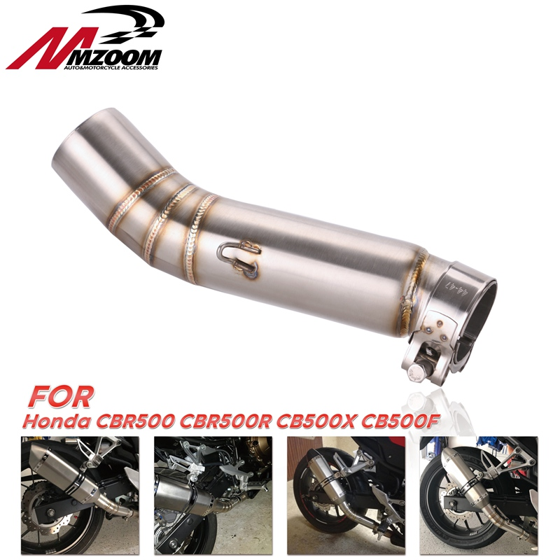 FOR Cbr500 CBR 500R Motorcycle Exhaust Contact Middle Pipe Connector For HONDA CBR500R 2012 To 2015