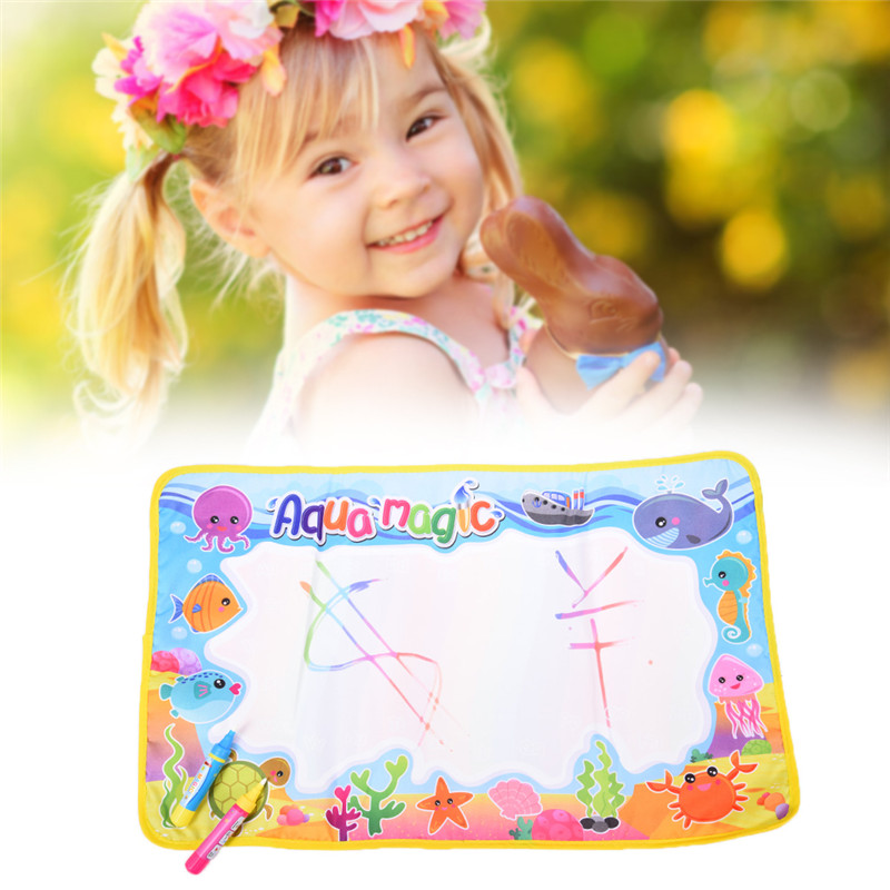 New-59x36cm-Multicolor-Rainbow-Water-Drawing-Mat-with-2-Pen-Aqua-Doodle-Mat-Rug-For-Painting-Xmas-Gift-Kids-Toys-4