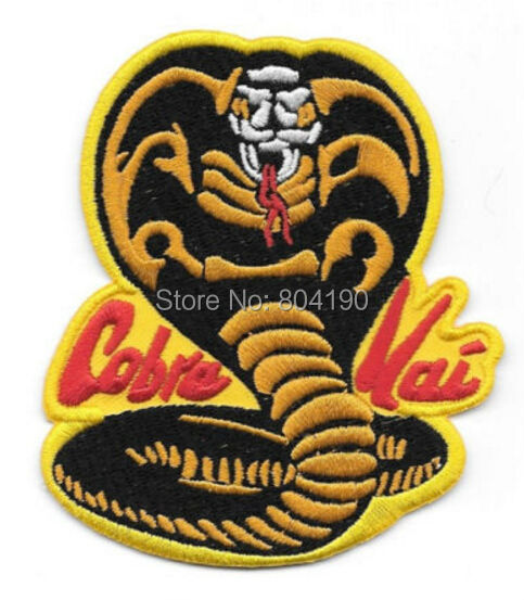 """3.75 """"Karate Kid Film Cobra Kai Snake patch TV Film Film serii haftowane żelazko na szyję na odznaka transfer z/ w Łatki od Dom i ogród na  Grupa 1"""