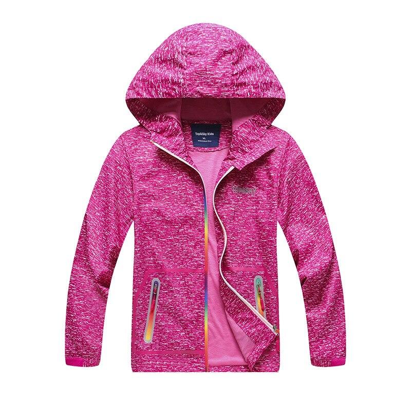 Boy And Girl Children Printing Waterproof Waterproof Breathable Film Hat Chest Zipper Sweater Jacket Hiking Assault Suit