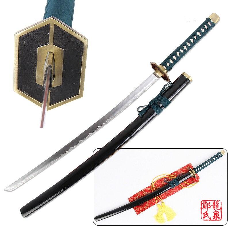 Ev ve Bahçe'ten Kılıçlar'de Ücretsiz Kargo Bleach Anime Kılıç Aizen Sousuke Çelik Bıçak Kudakero Kyoukasuigetsu Cosplay Prop Dekoratif Tedarik'da  Grup 1