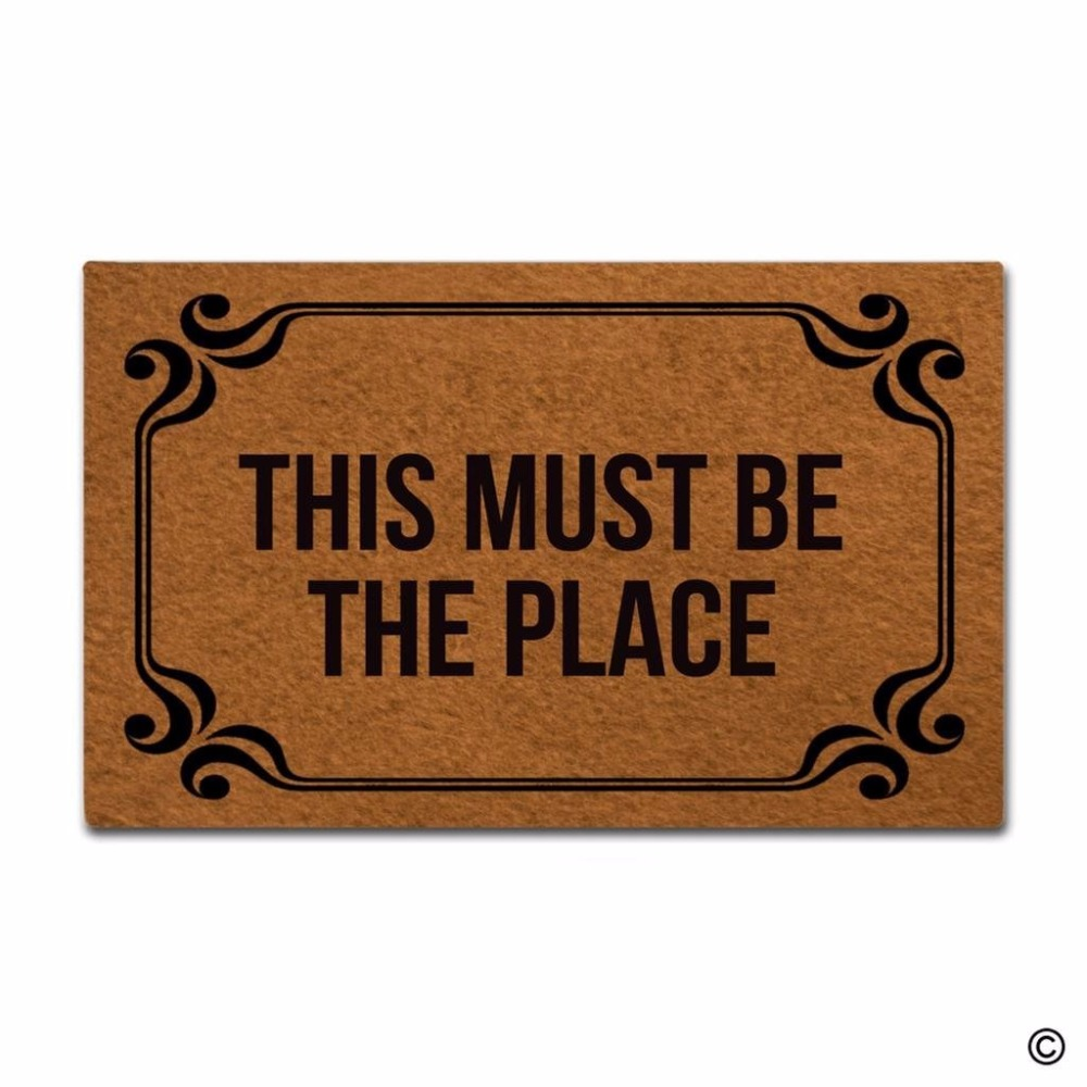Funny Printed Doormat Entrance Mat Non slip Doormat This Must Be The Place Indoor Outdoor Decoration Door Mat 18x30 Inch in Mat from Home Garden