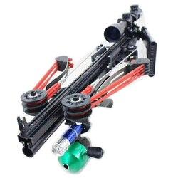 Półautomatyczne strzelanie z łuku myśliwskiego mocna katapulta Fix Reel wielofunkcyjna kulka stalowa amunicja strzałka ciągłe strzelanie|Łuki i strzały|   -