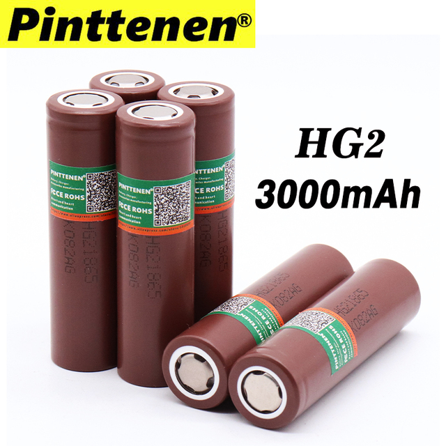 100% New Original HG2 18650 3000mAh battery 18650HG2 3.6V discharge 20A dedicated For LG  Electronic cigarette Power battery