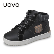 UOVO 2017 new autumn & winter walking shoes fashion boys casual shoes children sneaker warm comforable kids shoes Eur28#-37#