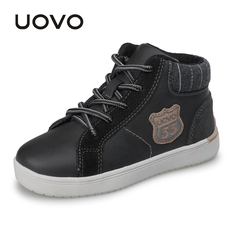 UOVO 2017 new autumn & winter walking shoes fashion boys casual shoes children sneaker warm comforable kids shoes Eur28#-37# new children s shoes in the spring of autumn boy girls running shoes casual shoes eur 31 37 yxx