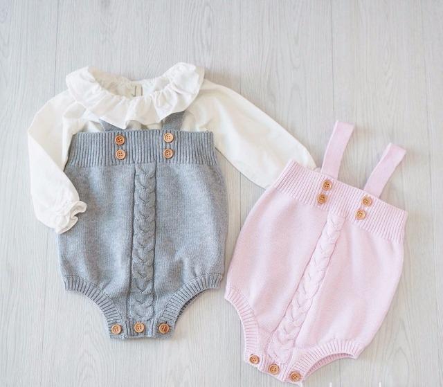 2017 primavera Crianças Roupas Quentes Da Criança Do Bebê Menino & da menina Macacão Botão Macacão Princesa Roupa Dos Miúdos rosa/cinza 0-18 m