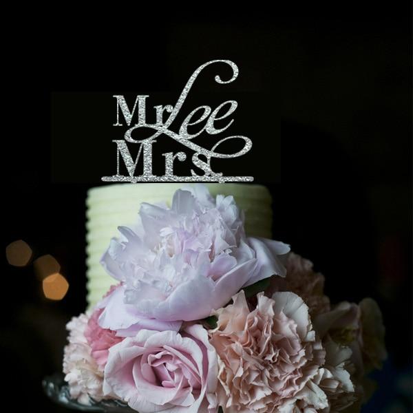 Isikupärastatud pulmakooki topper, kohandatud härra ja proua - Pühad ja peod - Foto 1