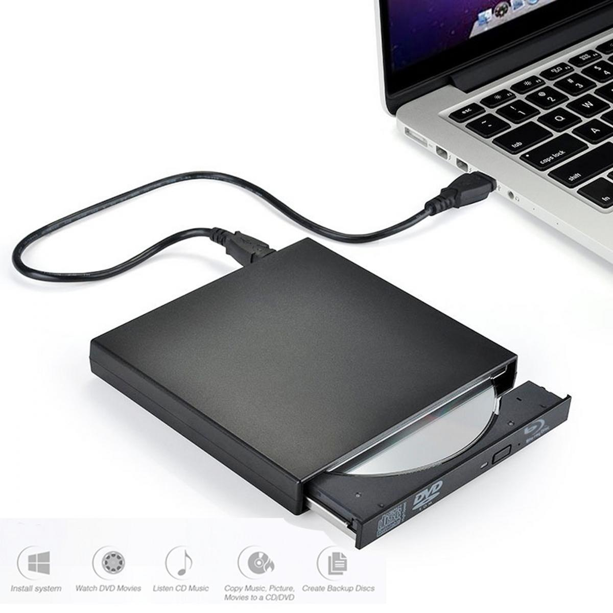 Black USB 2.0 External BD Blu Ray DVD+/RW DVD+/-DL CD+/-RW Drive Writer Burner 3D Play For WINDOWS XP/7/8/10 Mac Desktop Laptop external blu ray drive slim usb 3 0 bluray burner bd re cd dvd rw writer play 3d 4k blu ray disc for laptop notebook netbook