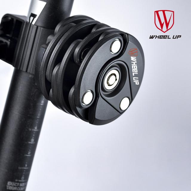 WHEEL UP 2017 New Bike Anti Theft Chain Lock Foldable Mini Cycling Folding Lock Security Steel Cycling Hamburg-Lock Bicycle Lock