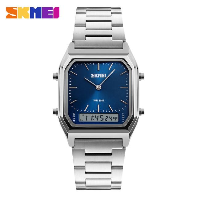 SKMEI 1220 Homens Digitais Esporte Relógio de Pulso Moda Quartz Digital Dual Time Chronograph Relógios Back Light Relógio Resistente À Água