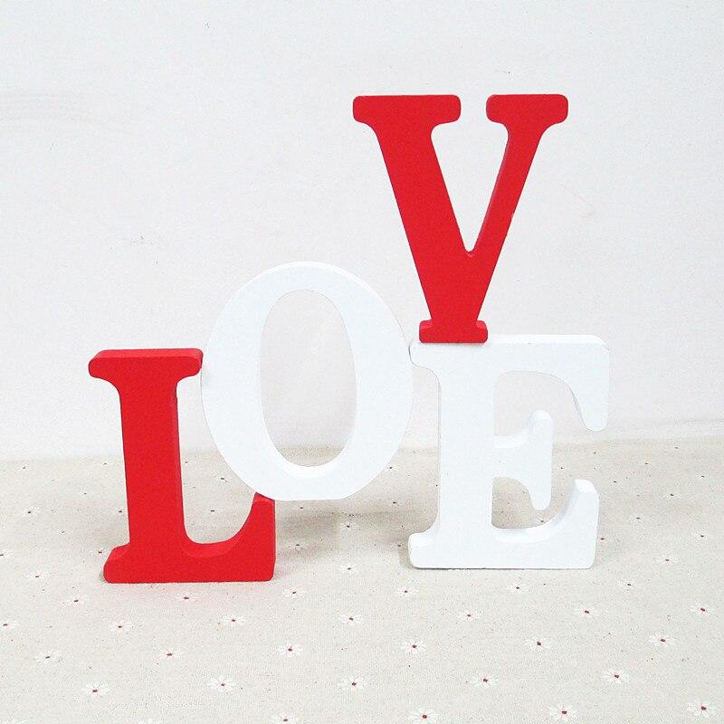 1pcs home decor wooden letter 26 wood english alphabet letters