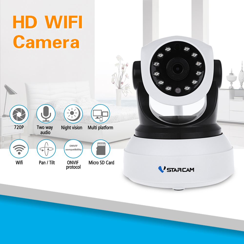 VStarcam HD IP Camera Wireless Wi-fi Wifi Video Surveillance Home Security Camera Indoor Baby Monitor Network Camera C7824WIP аккумулятор для ноутбука for hp hp pavilion dm4 dv3 dv5 dv6 dv7 g32 g42 g62 g56 g72 compaq presario cq32 cq42 cq56 cq62 cq630 cq72 mu06 for hp dm4 dv3 dv5 dv6 dv7 g32 g42