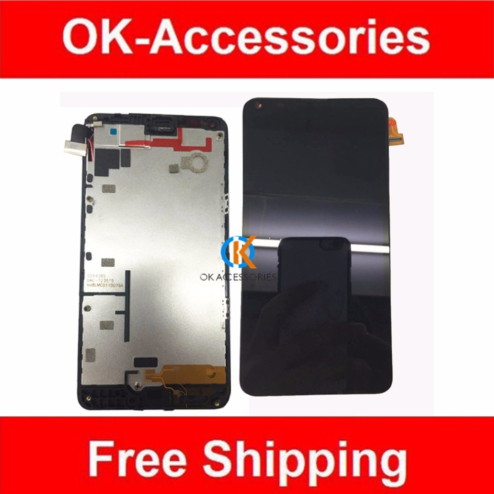 ФОТО Black Color 1PC / Lot  Tested For Microsoft Lumia 640 N640 LCD Display+Touch Screen Digitizer Assembly With Frame