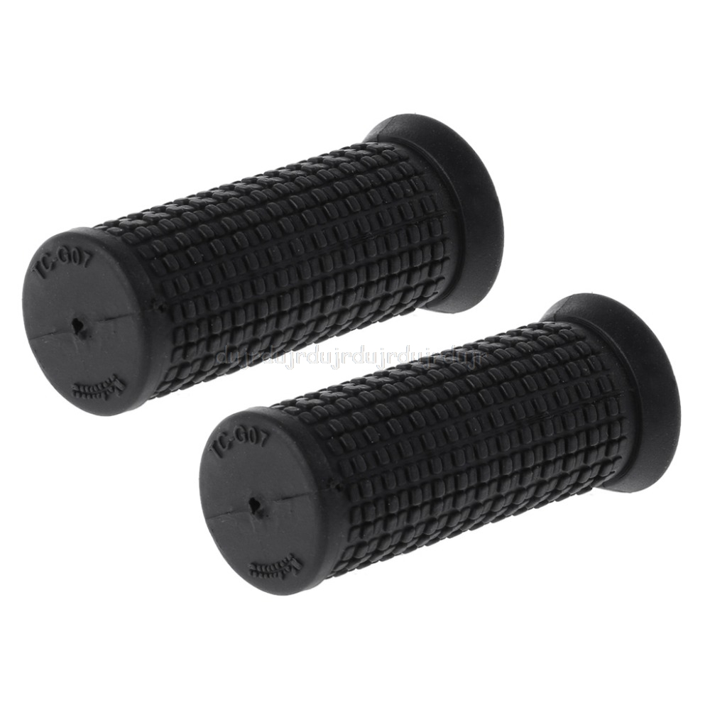 7CM 2pcs Bicycle Grips Short Handle Rubber Non Slip Cycling Scooter MTB Bike Parts N20 Dropship