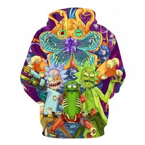 Image 2 - modis hoodies rick and morty mens hoodies 3D printed sweatshirts men hip top tops mens hoodies moda hombre 2018 Plus Size