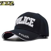 Polícia Homens Tactical Cap Fêmea Boné de Beisebol Dos Homens Tampas Osso  cabeças Do Camionista Snapback Chapéu Para O Homem Est.. 1dca98b0b90