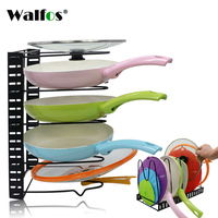 1PCS Kitchen Accessories Stainless Steel Pot Lid Shelf Kitchen Organizer Pan Cover Lid Rack Stand Sponge