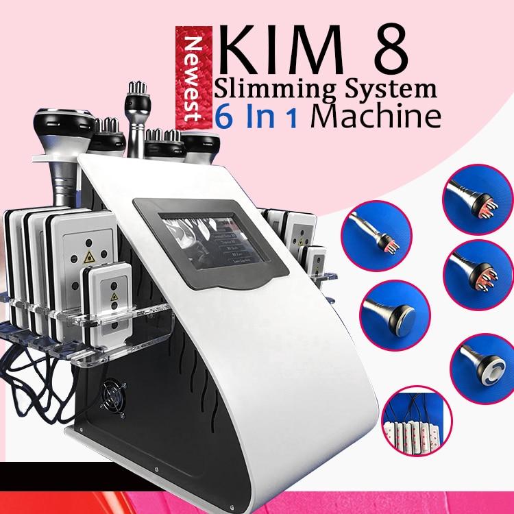 High Quality New Model 40k Cavitation 8 Pads LLLT lipo loss weight Vacuum RF Skin Care Salon Spa Equipment