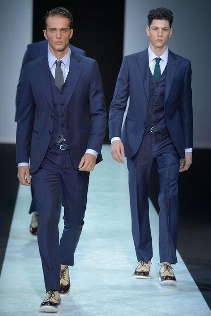 Mode Italienische Dunkelblau Mann Anzug Nach Mass Brautigam Smoking