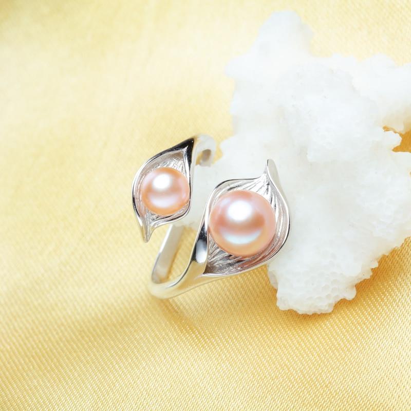 FENASY ferskvands naturlige Double Pearl Ring til kvinder, bohemier - Smykker - Foto 3