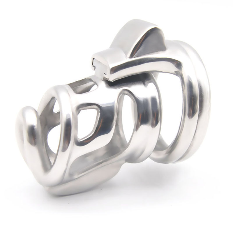 Stainless Steel Male Chastity Cage Device Penis Bondage Ball Stretcher <font><b>Cbt</b></font> Penis Lock Cock Cage Adult <font><b>Sex</b></font> <font><b>Toys</b></font> <font><b>For</b></font> <font><b>Men</b></font> Cb6000s image