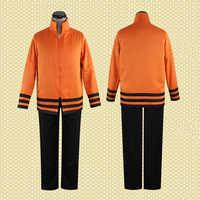 Anime Naruto Uzumaki Naruto 7th Hokage Cosplay Costume Seventh Hokage Full Set Uniform ( Jacket + Pants ) Halloween Costumes