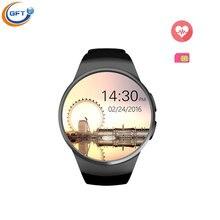 Gft kw18 smart watch uhr mit sim einbauschlitz push-nachricht bluetooth-konnektivität für iphone android telefon smartwatch herzfrequenz