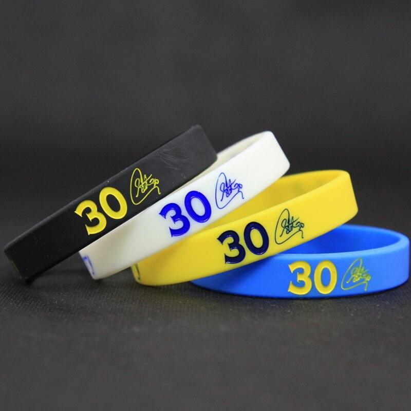 Top Quality Men's Silicone Basketball Bracelets Stephen Curry Sport Energy Balance Wristband Power Bangle