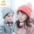 2017 Top Fashion Solid Unisex Casual Children Cotton Beanie South Korea's New Baby Boy Girl Fashion Hat Warm Winter Child Star