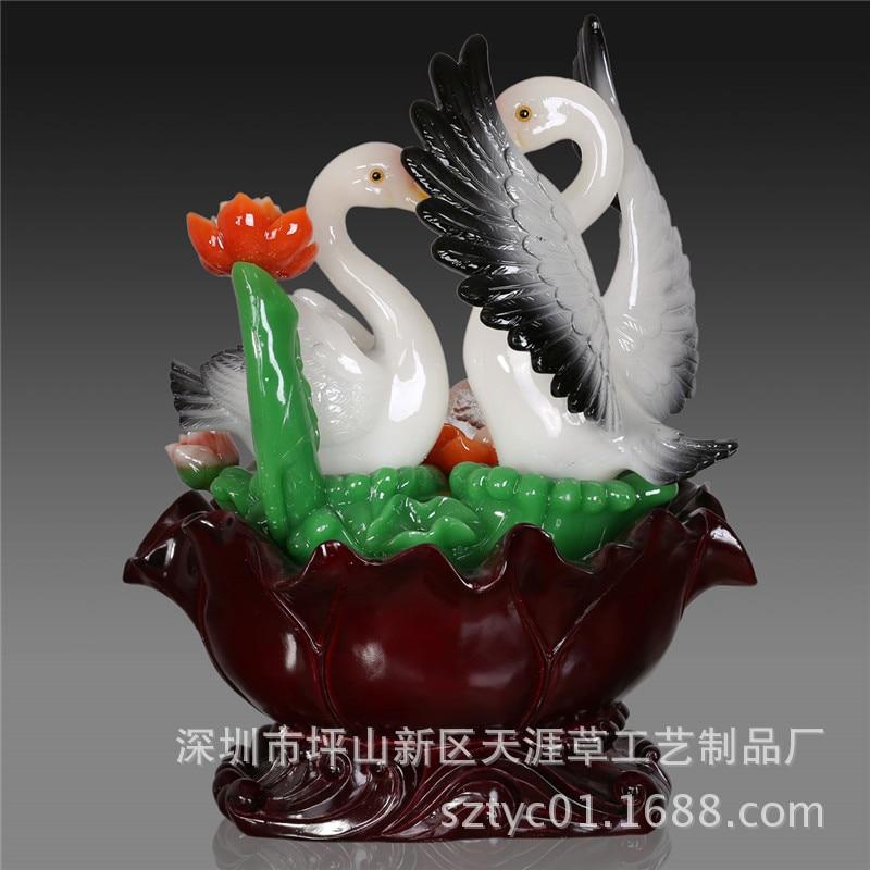 Fabricants résine ornements chanceux décorations pour la maison ornements heureux et harmonieux feng shui atomisation de fontaine d'eau