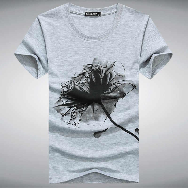 5XL мужская футболка с круглым вырезом 2017 летняя модная футболка с принтом для мужчин s тонкая футболка плюс размер повседневная хлопковая Футболка для мальчиков