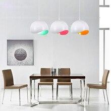 Nordic Designer Semicircular Color Macaron Aluminum Pendant Lights Modern LED Lamps Dining Room Lighting Decor Luminaire