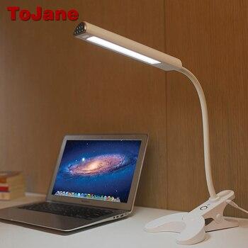 ToJane TG902 Desk Lamp 8 W Cuidados Com Os Olhos Levou Candeeiro de Mesa de 3 Cores modos x 3 Níveis Dimable Clipe lâmpada de Mesa Levou Para A Leitura Do Livro luz