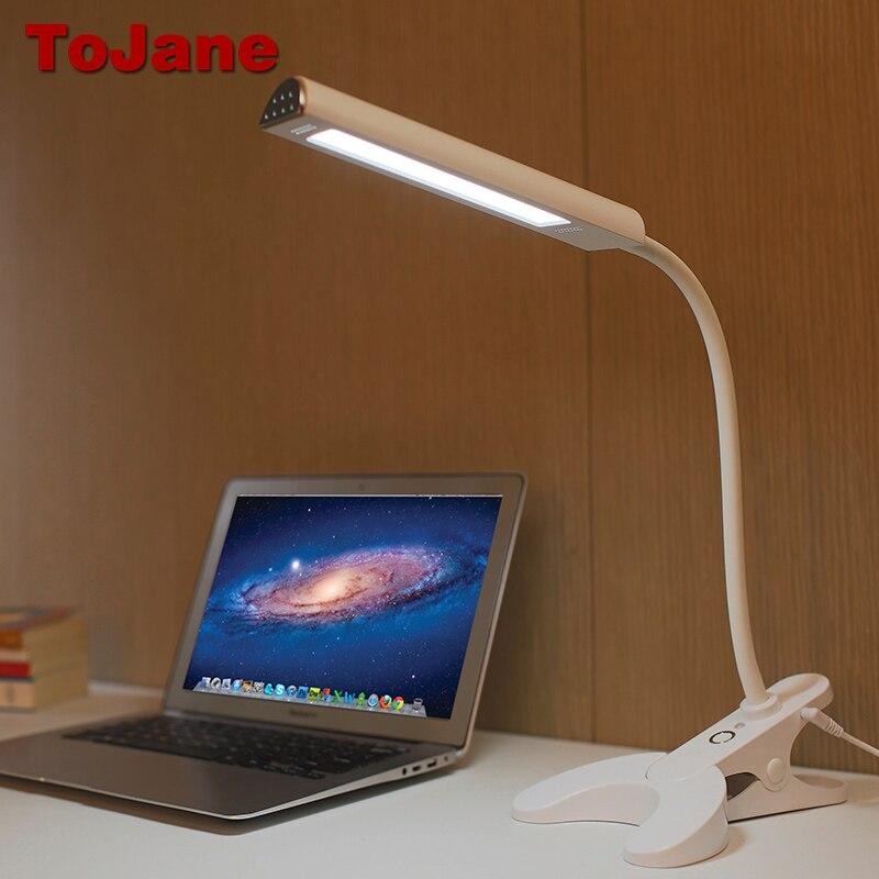 ToJane TG902 Desk Lamp 8W Eye Care Led <font><b>Table</b></font> Lamp 3 Color Modes x 3 Dimable Levels Led Desk lamp Clip For Reading Book Light