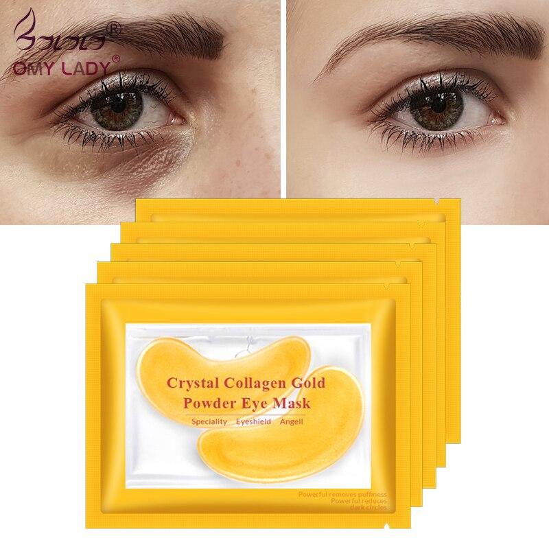 Masques en or masque pour les yeux en cristal collagène patchs Anti-rides pour les yeux masque pour les yeux enlever les soins des yeux noirs