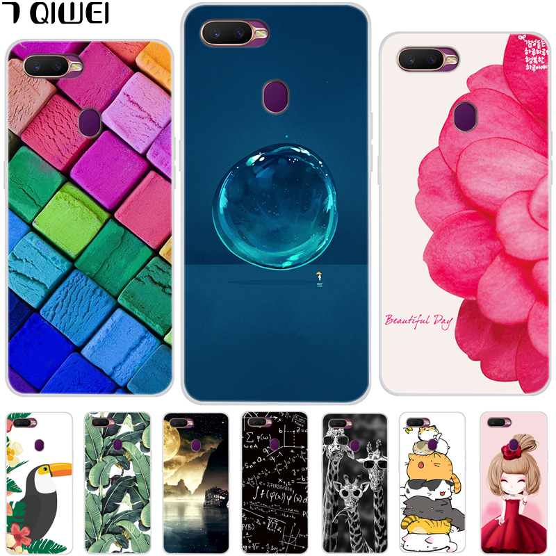 6.2\'\' For OPPO A7 Case OPPOA7 Silicone Soft TPU Phone Case Back Cover For Funda OPPO A7 A 7 OPPOA7 CPH1901 Case Animal Cute Thin