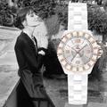 SINOBI Белый Женские Часы Люксовый Бренд Элегантные Дамы Золотой Браслет Наручные Часы с Алмазной Женская Мода Часы Relojes G67
