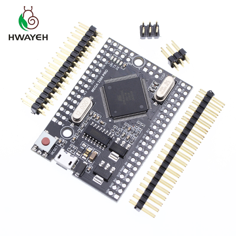 HWAYEH Mega 2560 PRO MINI 5V (Embed) CH340G ATmega2560-16AU with male pinheaders Compatible for arduino Mega 2560HWAYEH Mega 2560 PRO MINI 5V (Embed) CH340G ATmega2560-16AU with male pinheaders Compatible for arduino Mega 2560