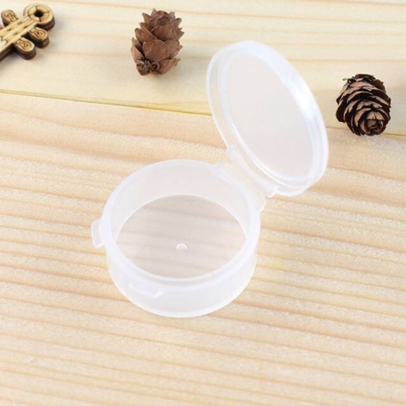 Mini Clear PP Plastic Storage Box Gift Case For Jewelry Earplug Pill Box Small Component Headphone Collar Clip 10PCS