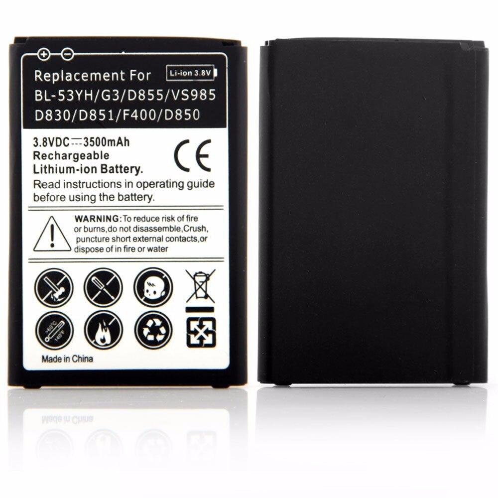 Высокая Ёмкость 3.8 В 3500 мАч Batteria для <font><b>LG</b></font> <font><b>G3</b></font> <font><b>D855</b></font> Vs985 D830 D851 F400 D850 bl-53yh телефон Батарея