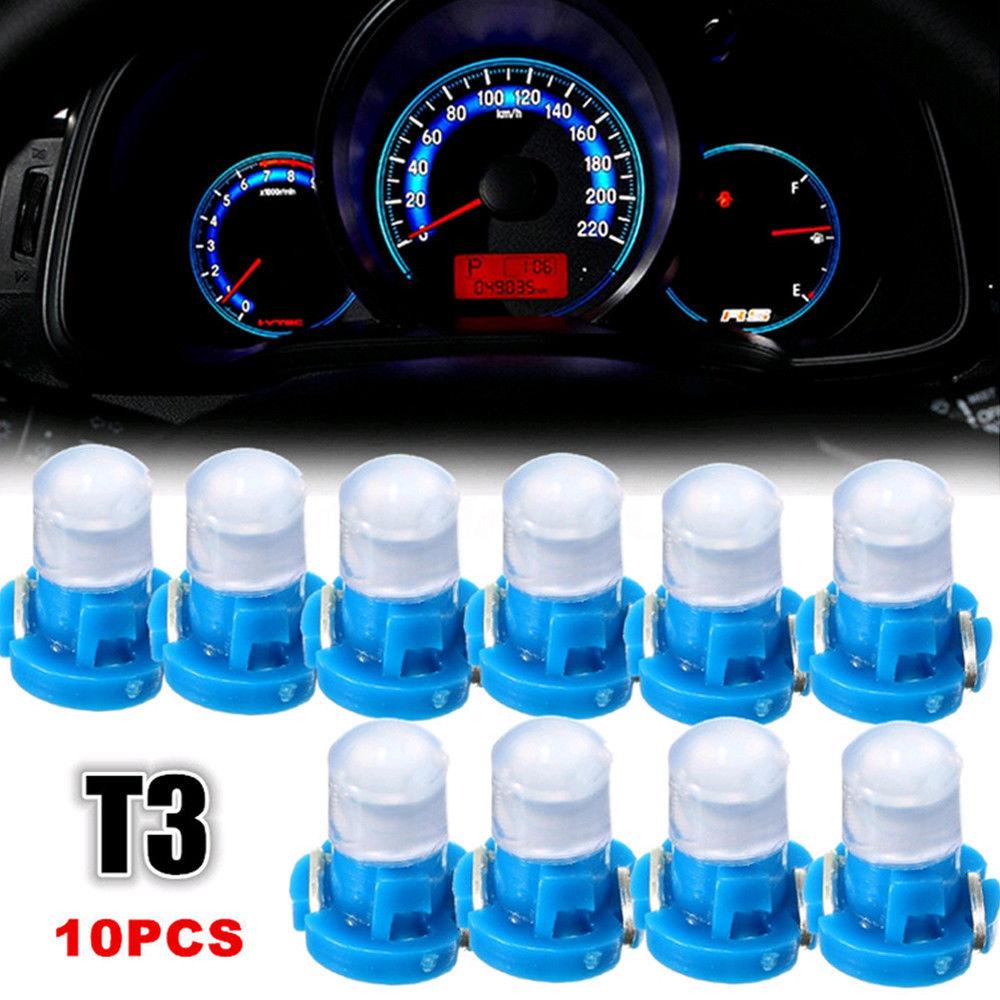 10 шт. Универсальный T3 нео-Клин светодиодный SMD лампочка фонарь инструмент сигнальный светильник s для автомобиля SUV панель приборной панели ...