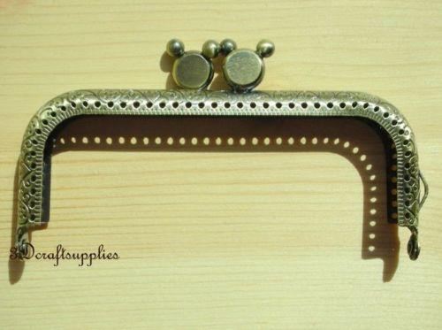 metal frame sewing bag purse frame 10cm anti bronze B58