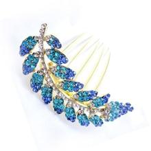 NEW Leaves style hair jewelry elegant handmade diamond comb/ hair disk