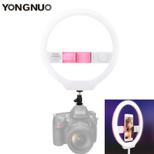 лучшая цена YONGNUO YN128 Mobile Photo Selfie Ring light 128 LED DSLR Camera Phone Photography Lamp Video Studio Lighting For Iphone Youtube